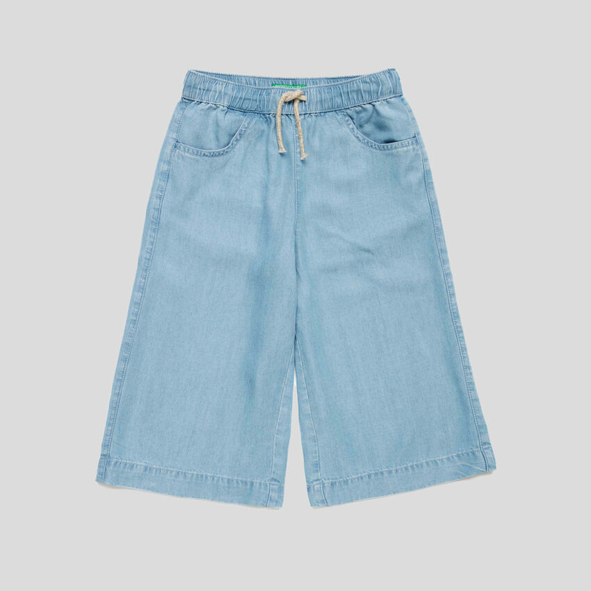3/4 pants in chambray