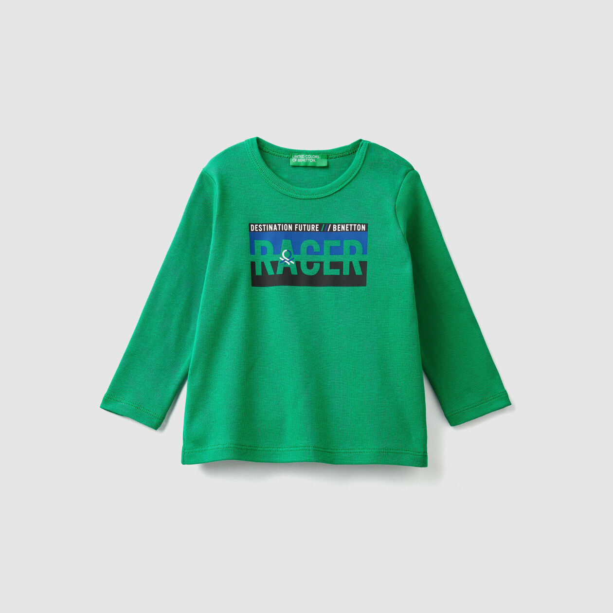 Ribbed t-shirt with print