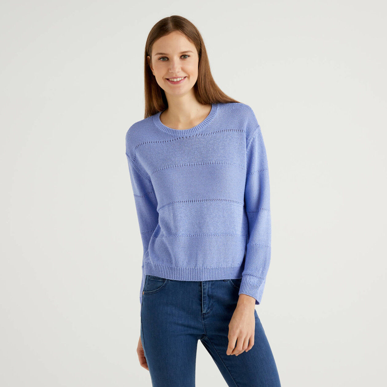 Sweater with lurex thread