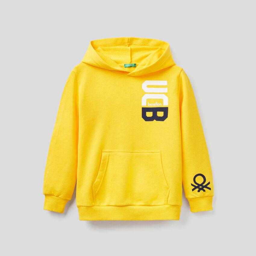 Yellow hoodie