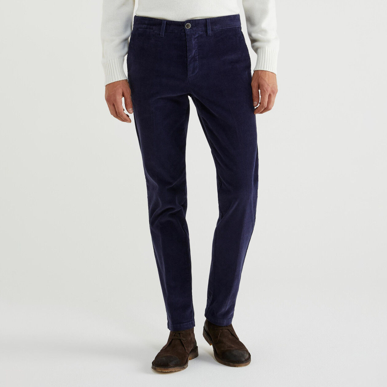 Slim fit velvet trousers