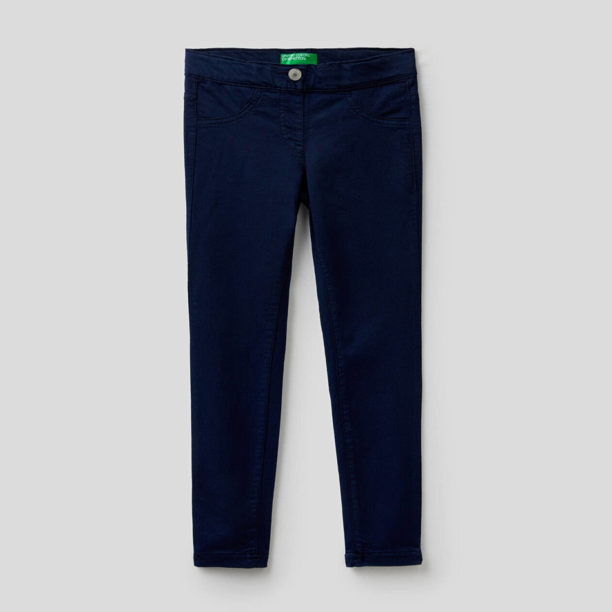 Twill trousers in stretch cotton blend.
