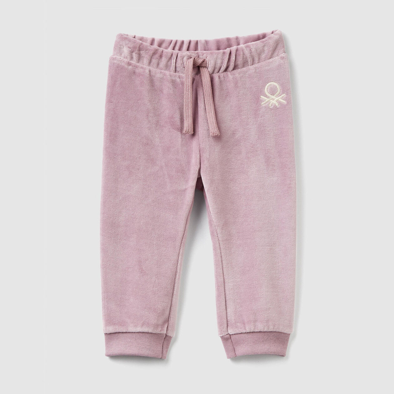Chenille trousers with drawstring