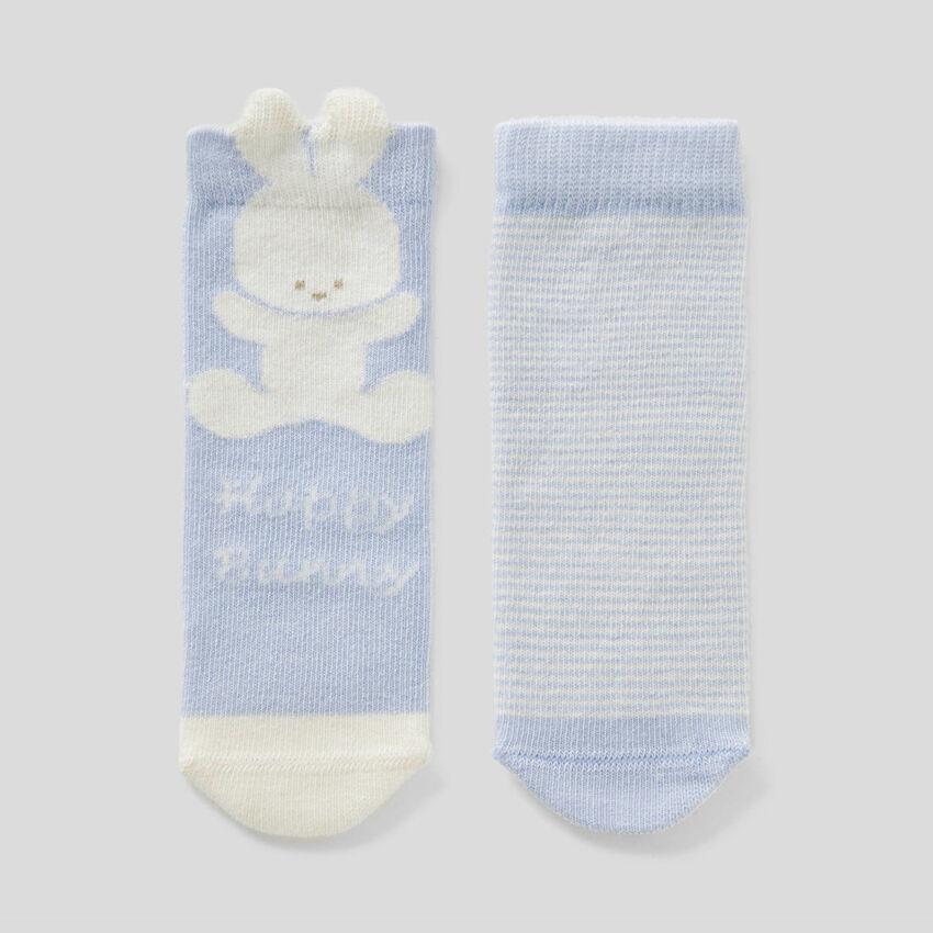 Socks set in organic cotton blend