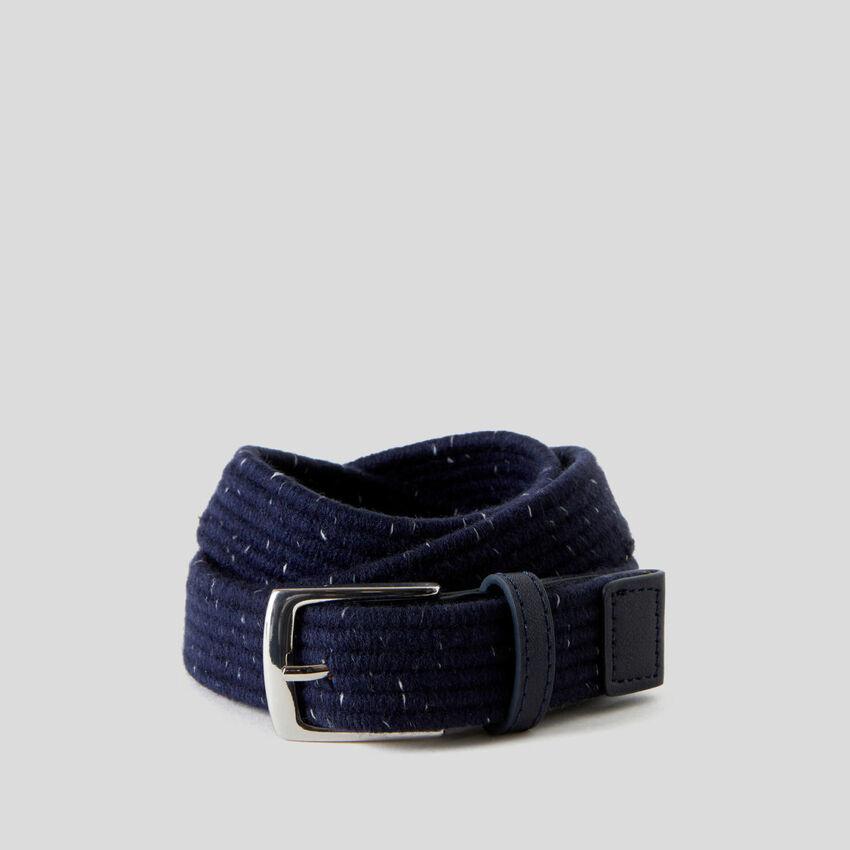 Belt in stretch fabric