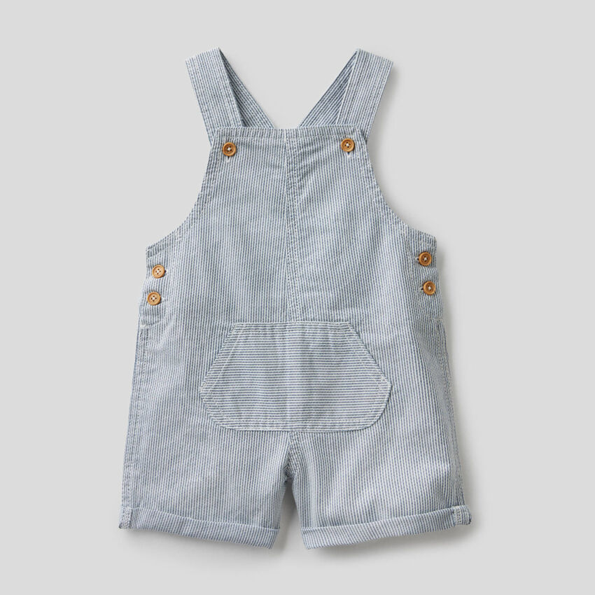 Short overalls in 100% cotton