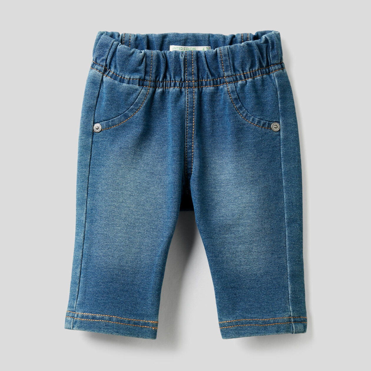 Denim look pants