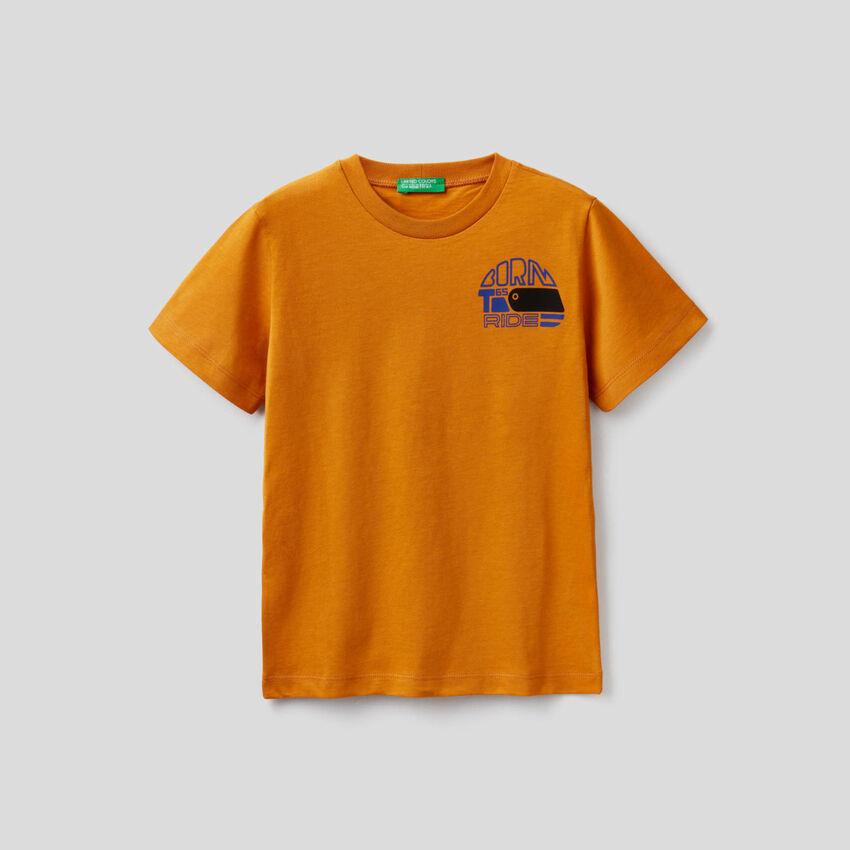 Short sleeve t-shirt in organic cotton