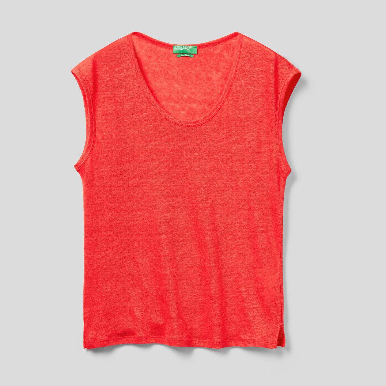 Short sleeve linen t-shirt