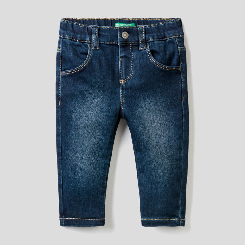 Thermal skinny fit jeans