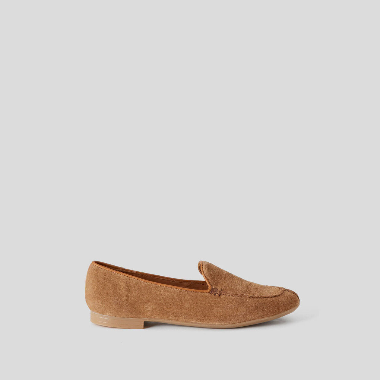 Chamois leather moccasins