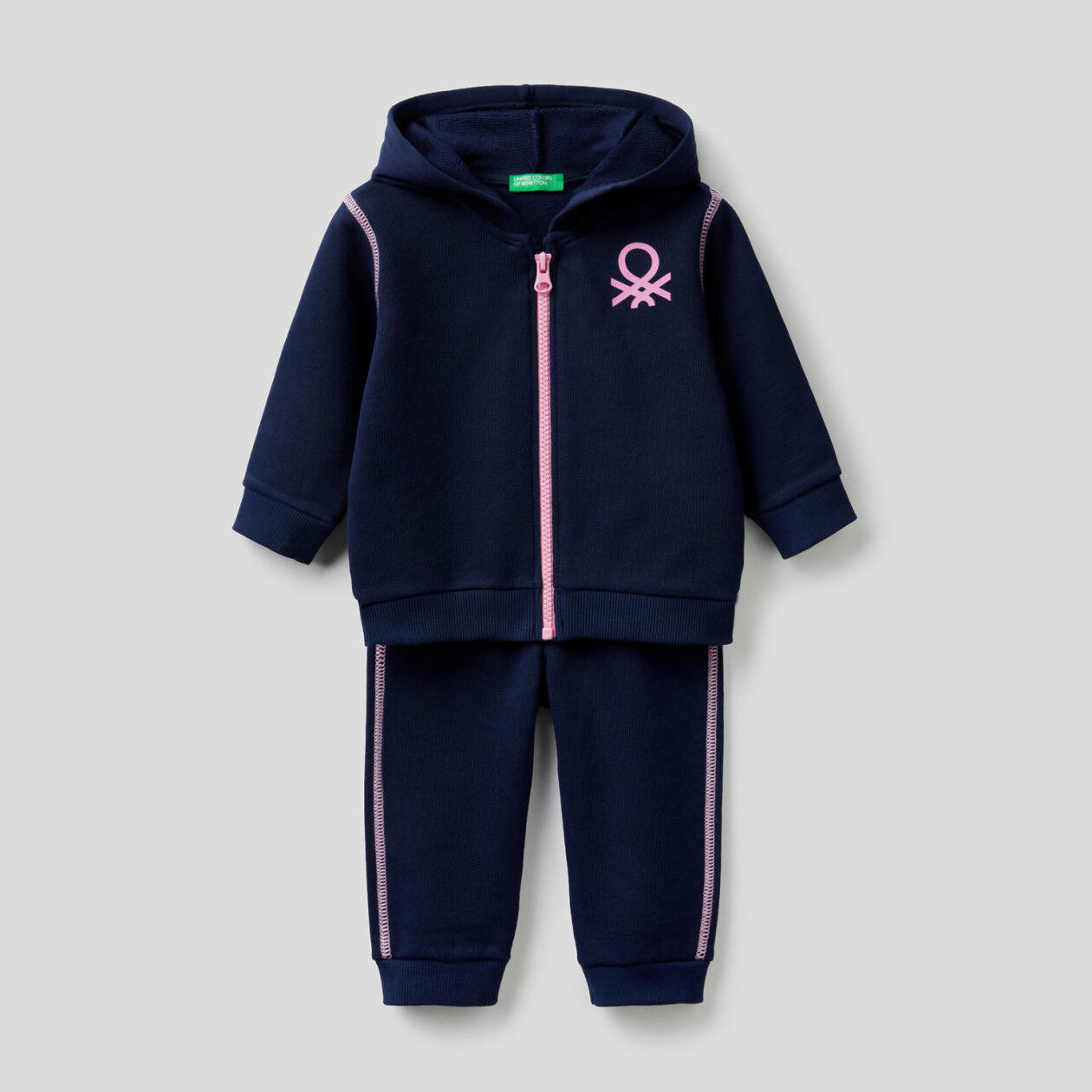 Sweat tracksuit in organic cotton